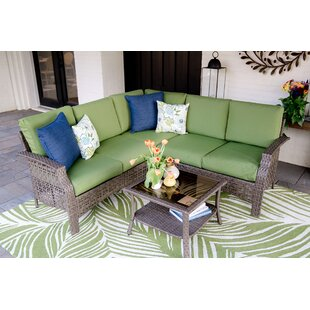 Kewstoke 4 Piece Sectional Set with Cushions