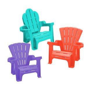 Zoomie Kids Kriebel Plastic Adirondack Chair Set (Set of 2)
