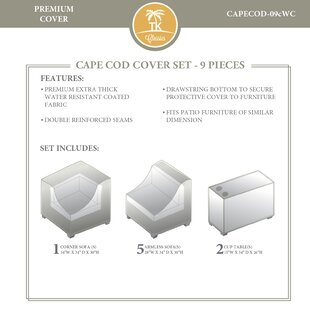 TK Classics Cape Cod 9 Piece Cover Set