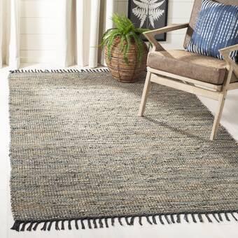 Foundry Select Almyra Striped Handmade Flatweave Cotton Gray Brown Area Rug