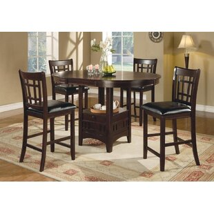 Grube 5 Piece Counter Height Extendable Dining Set Red Barrel Studio