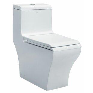 EAGO Dual Flush Rectangle One-Piece Toile..