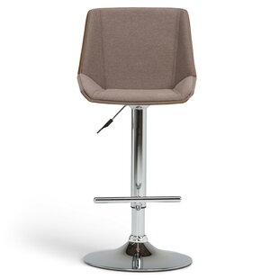 Corena Adjustable Height Swivel Bar Stool by Orren Ellis
