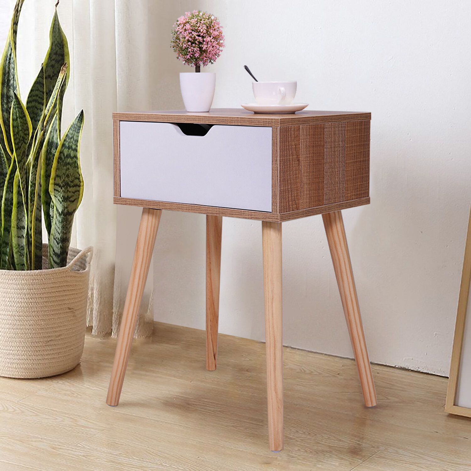 Wrought Studio Gwendolyn End Table Set With Storage Reviews Wayfair
