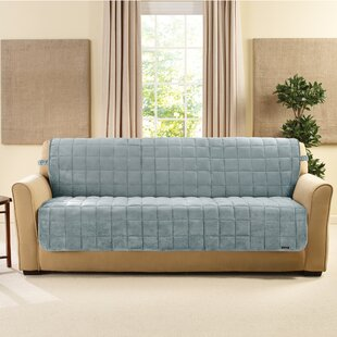 Look for Deluxe Comfort Quilted Armless Box Cushion Sofa Slipcover by Sure Fit Reviews (2019) & Buyer's Guide