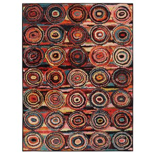Read Reviews Heier  Black/Yellow/Aqua Blue/Ivory/Red Area Rug ByWrought Studio