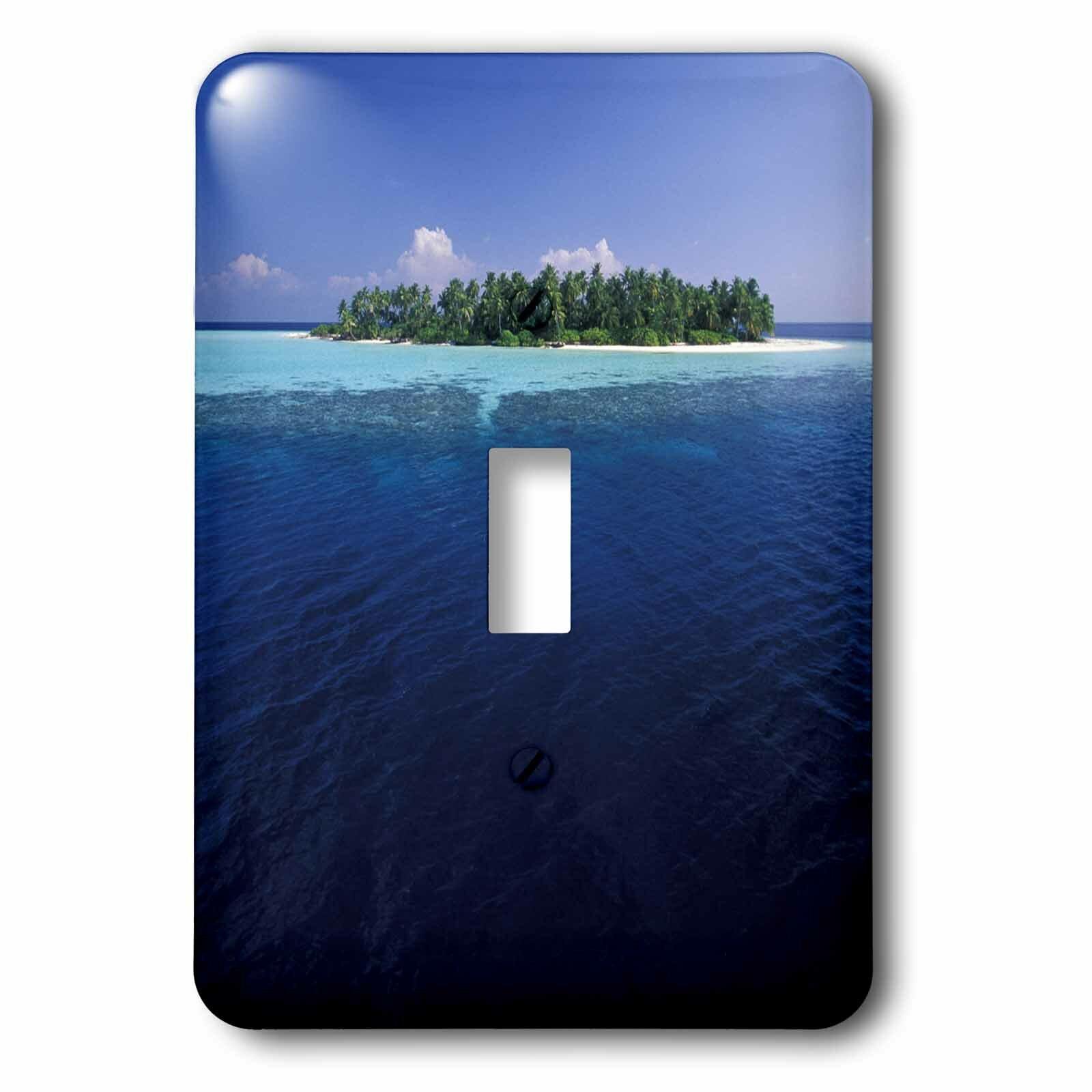3drose Maldives Ari Atoll Uninhabited Tropical Island 1 Gang Toggle Light Switch Wall Plate Wayfair