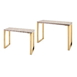 Mercer41 Kirtland 2 Piece Console Table Set