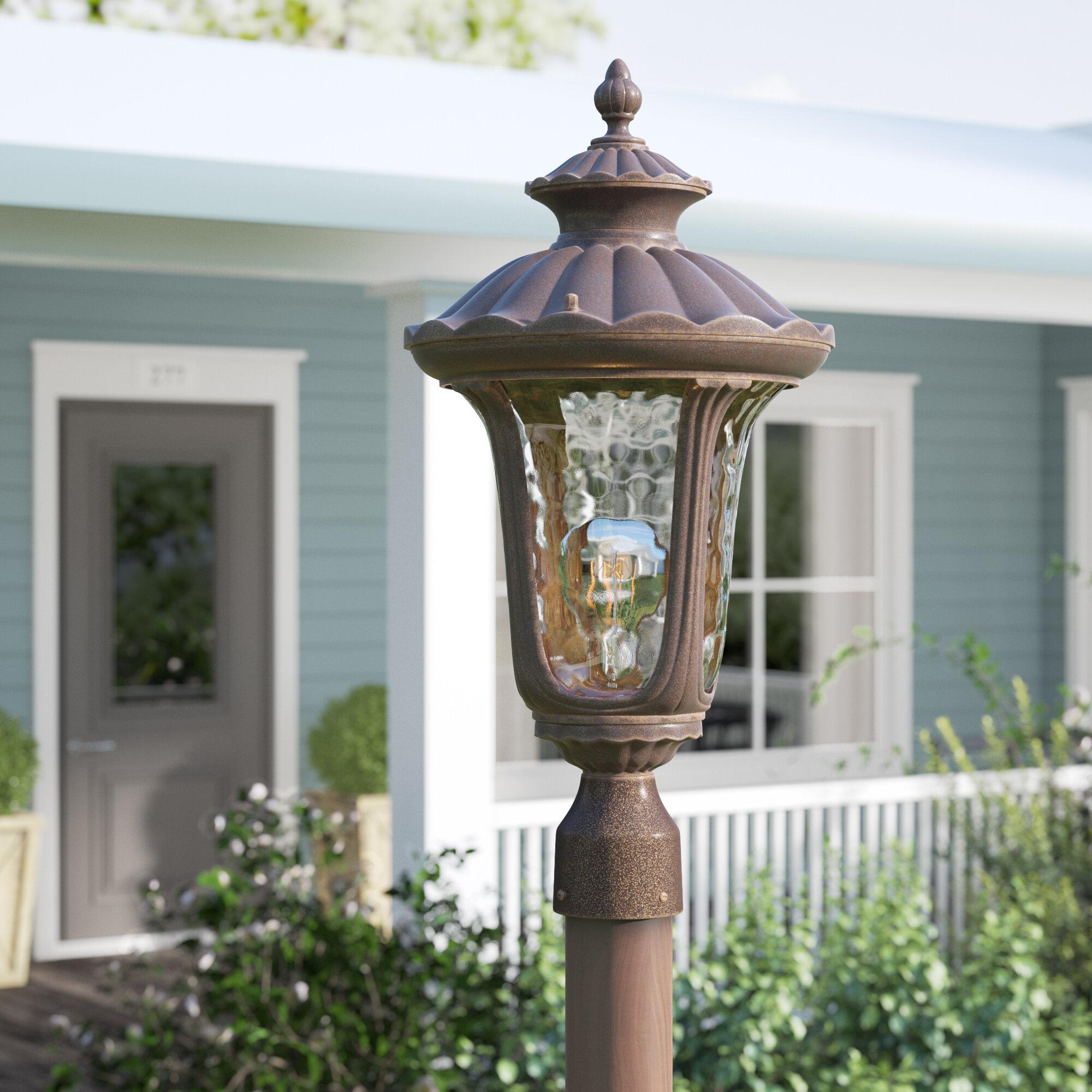Outdoor 3 Light Metal Lantern Head