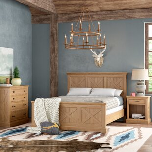 Burbury Country Lodge Wood Panel 3 Piece Bedroom Set