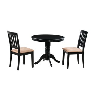 Cedarville 3 Piece Carved Solid Wood Dining Set by Alcott Hill Today Only Sale