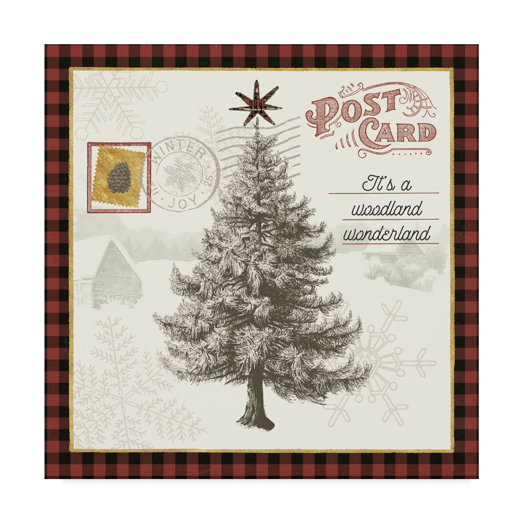 The Holiday Aisle Winter Reindeer Iv Graphic Art Print On Wrapped Canvas Wayfair
