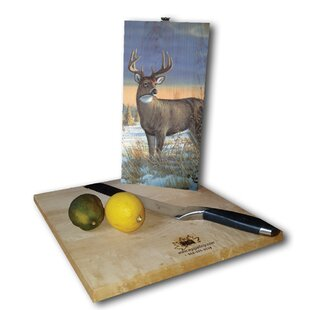 Whitetail Deer in Winter 12 x 6 Cutting Board By WGI-GALLERY