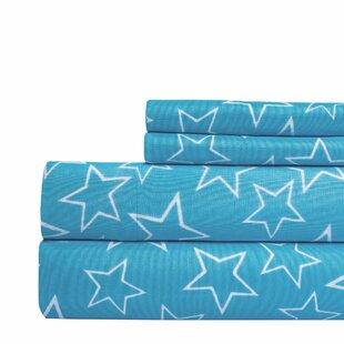 Aspire Linens Star Print Super Soft Sheet Set