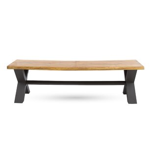 17 Stories Polito Outdoor Wooden Picnic Bench