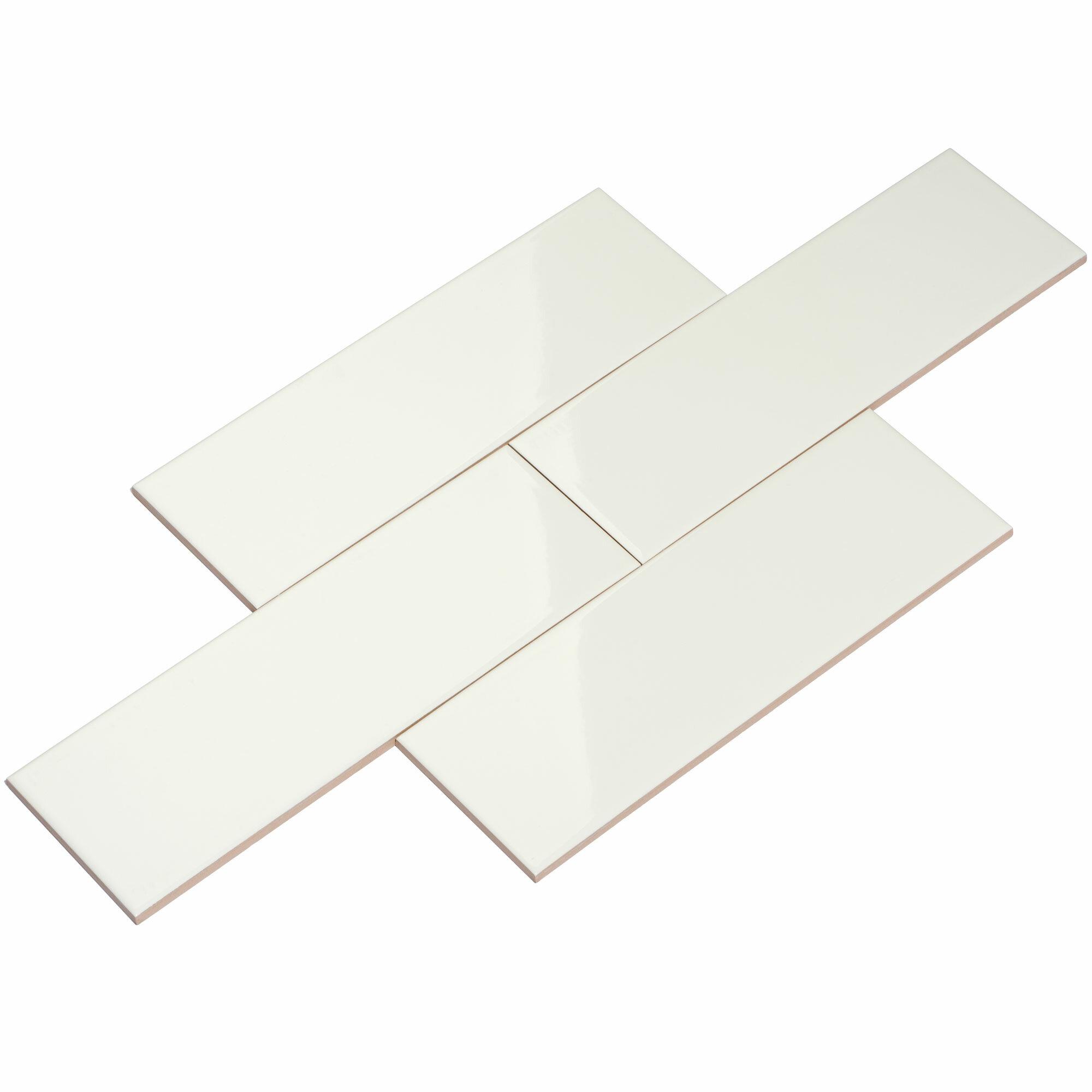 Giorbello X Ceramic Subway Tile In White Reviews Wayfair - Best price on white subway tile