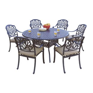 Astoria Grand Skyloft 7 Piece Dining Set with Cushions