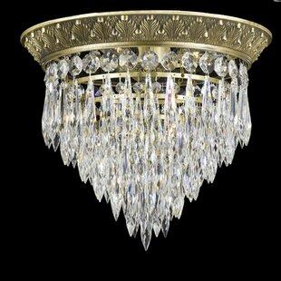 American Brass & Crystal Corinthian Flush Mount
