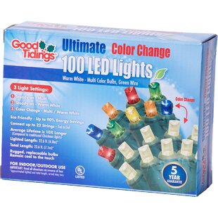 The Holiday Aisle LED Change Mini 100 Light String Lights