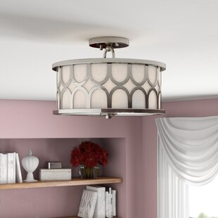 Bowers 2-Light Semi Flush Mount by Willa Arlo Interiors