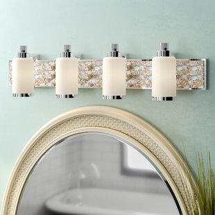 Affordable Palm Cove 4-Light Vanity Light By Beachcrest Home