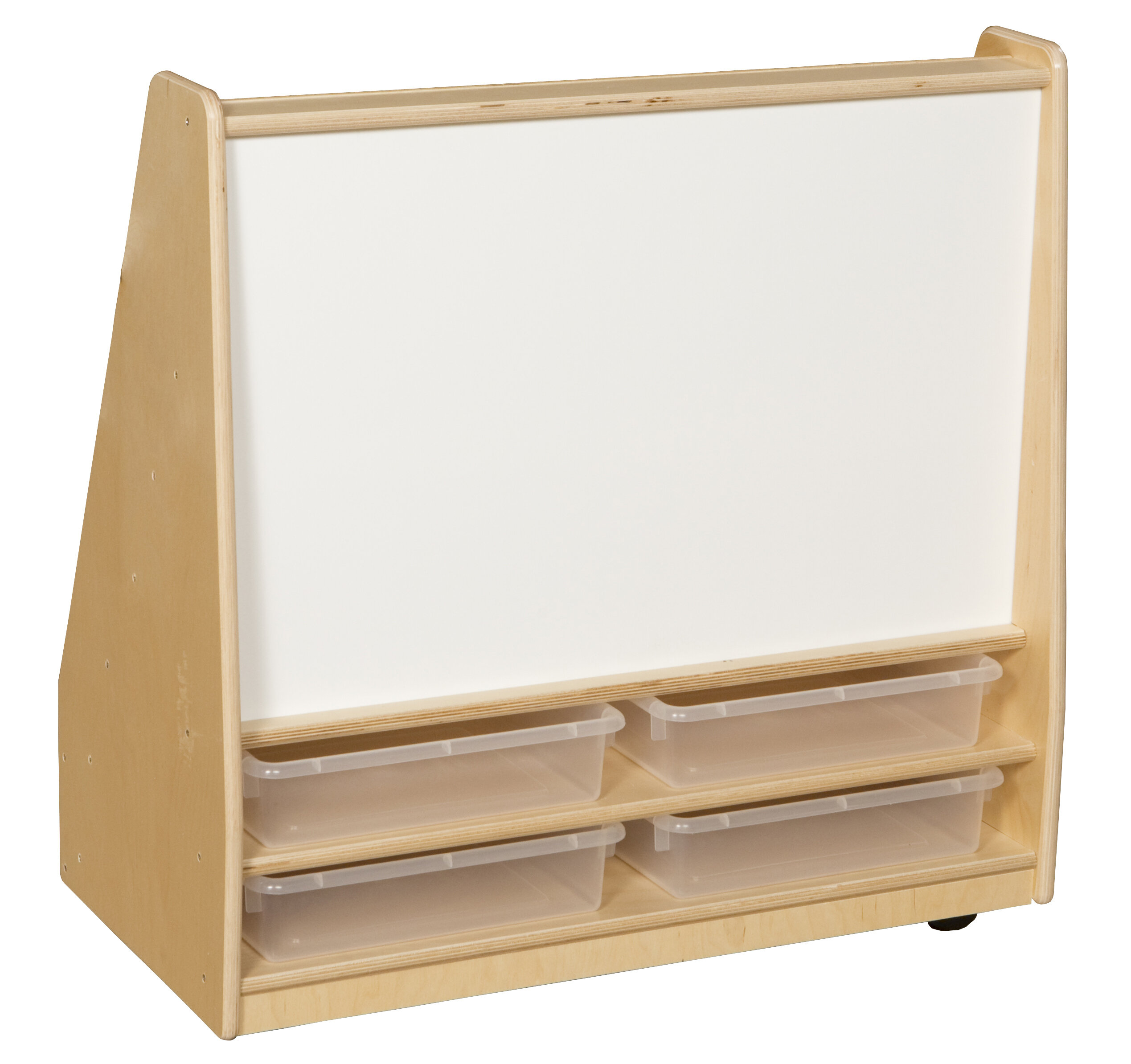 Wood Designs Double Sided 8 Compartment Book Display With Bins Reviews Wayfair