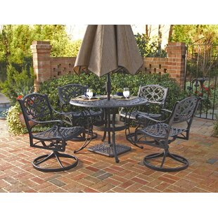 Ayleen 5 Piece Outdoor Dining Set