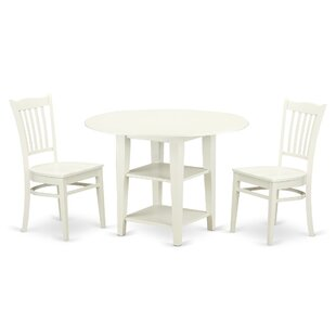 Tyshawn 3 Piece Drop Leaf Breakfast Nook ..