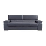 Orlando Faux Leather Standard 86 Square Arm Sofa by Wade Logan®