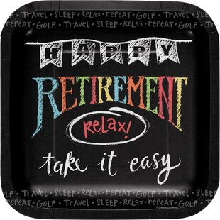 Retirement Chalk Paper Salad Plate (Set of 24)