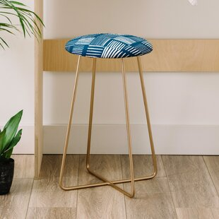 The Old Art Studio Torn Lines Abstract Co Farm Life 25 Bar Stool by East Urban Home Great Reviews