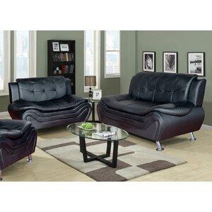 Crocker 2 Piece Leather Living Room Set