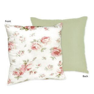 Riley's Roses Cotton Throw Pillow