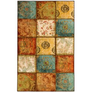 Great Price Aftonshire Rust Red/Blue Area Rug By Red Barrel Studio