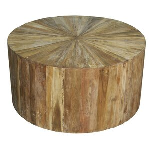 Round Wood Coffee Table by Noir