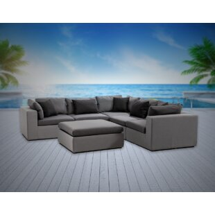 Malani 6 Piece Sunbrella Sectional Seating Group with Sunbrella Cushions
