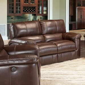 Blair Dual Leather Power Reclining Loveseat ..
