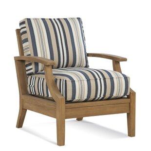 Messina Teak Patio Chair with Sunbrella Cushions by Braxton Culler