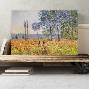 'Walking in the Fields' by Claude Monet Painting Print on Canvas