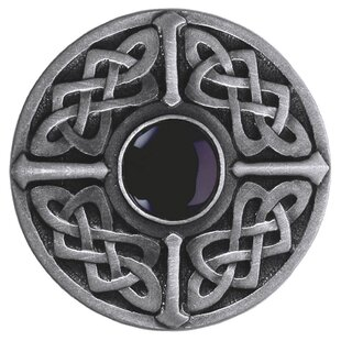 Celtic Jewel Round Natural Stone Center Knob