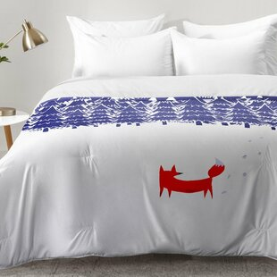 East Urban Home Alone In The Forest Comforter Set