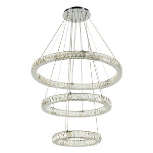 Everly Quinn Leatherhead 1-Light LED Crystal Pendant
