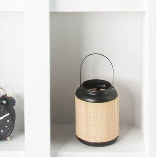 Bamboo Lines Tabletop Torch by Present Time
