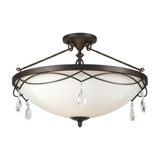 Fortuna 4-Light Semi Flush Mount by Ophelia & Co.
