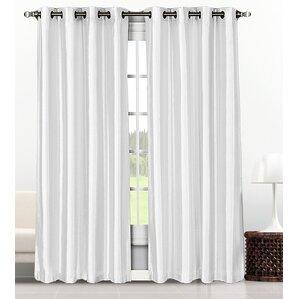 baylee solid semisheer grommet curtain panel set of 2