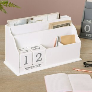 Ailani Desk Organiser With Block Calendar By August Grove