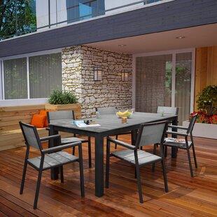 Latitude Run Ellport 7 Piece Outdoor Patio Dining Set