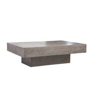 Lininger Stone/Concrete Coffee Table by 17 Stories