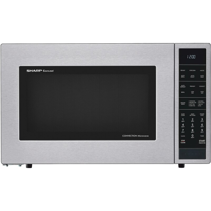 "Sharp 25"" 1.5 cu.ft. Countertop Microwave  Color: Stainless Steel"