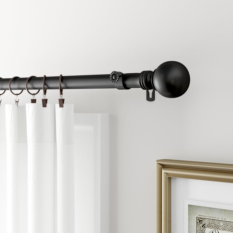orpha globe single curtain rod